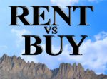 renting a home vs buying it