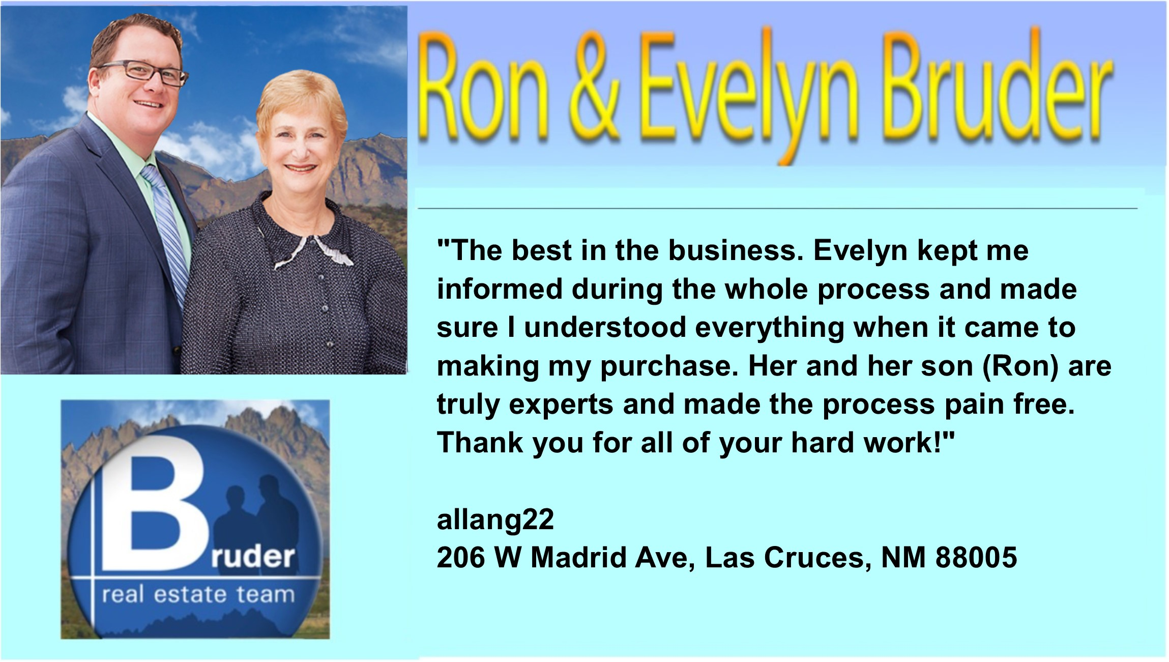 Ron was excellent - 5 star testimonial