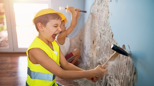 family making repairs DIY without permit