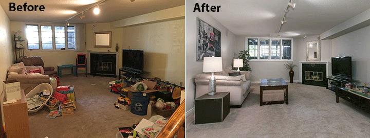 declutter and depersonalize is key to staging home to sell
