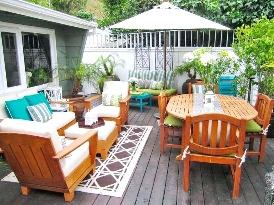 staged outdoor living space for summer