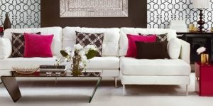 cushions add color and interest