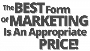 the best form of marketing is price