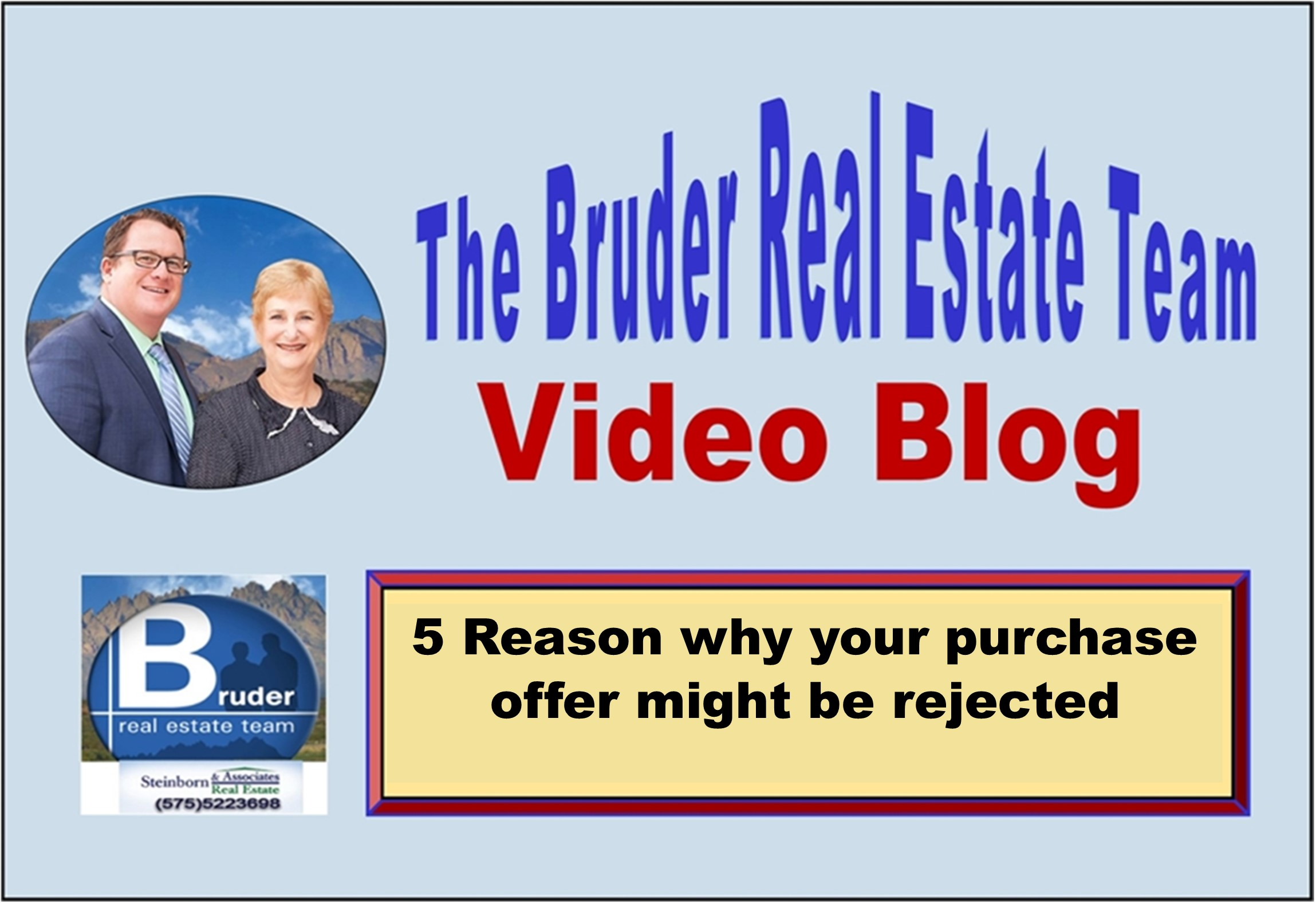5 most common reasons that sellers reject offers